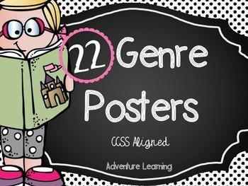 22 Genre Posters Common Core Aligned