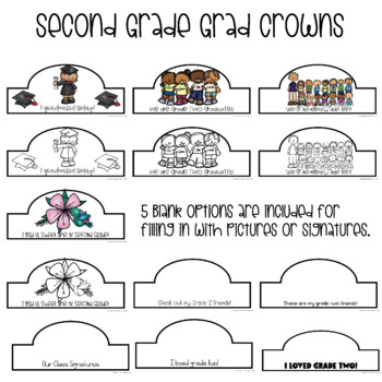 Grade Two Graduation Crowns