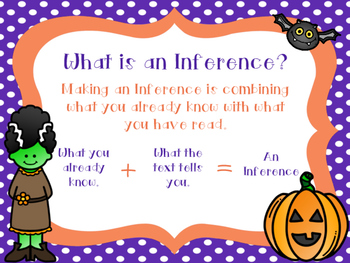 22 Halloween Themed Inferencing Cards and Activities