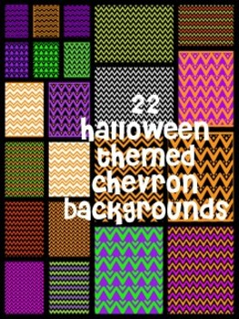 22 Halloween colored Chevon backgrounds