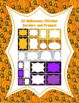 22 Halloween/October Borders and Frames!