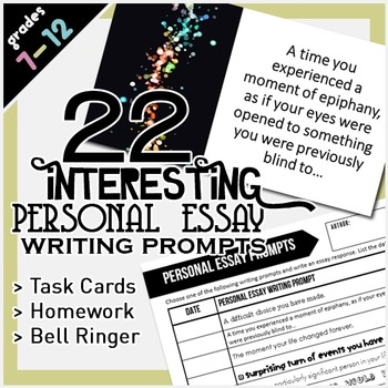 Personal Essay Writing Prompts