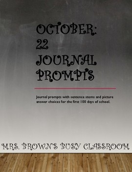 22 Journal Prompts for October