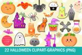 22 Kawaii Halloween Clipart-Halloween Graphics Clipart