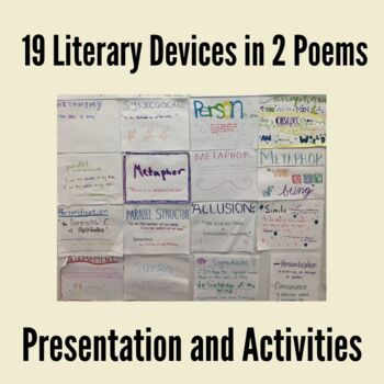 19 Literary Devices in 2 Poems: Presentation and Activities