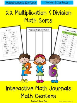 22 Multiplication & Division Fact Sorts