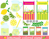 22 PNG Files - Lemonade Stand Clipart Set - Digital Clip Art 020