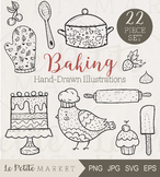 22 Piece Baking and Cooking Clip Art Set, Baking Clipart,