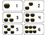 22 Pot of Gold Counting and 10 Frame Printable Flashcards. Preschool-KDG Math.