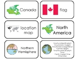 22 Printable Canada Country Flashcards. World Geography.