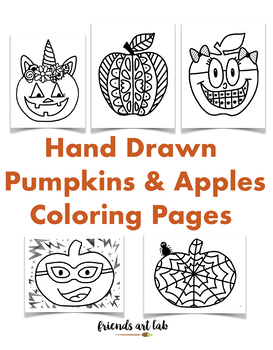 22 Pumpkins Apples Coloring Pages Perfect For Fall And Bulletin Boards