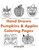 """22 """"Pumpkins & Apples"""" Coloring Pages (Perfect for Fall and Bulletin Boards)"""