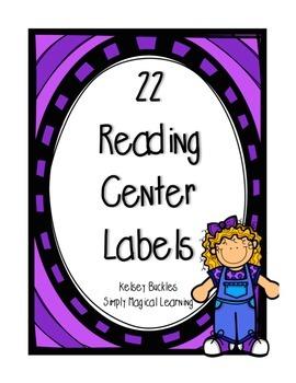 22 Reading Center Labels