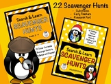 22 Search & Learn Scavenger Hunts for Grades 2-4 (Content Area & Holiday Bundle)