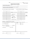 22) Solving Systems by Graphing Guided Notes (designed to accompany PPT)