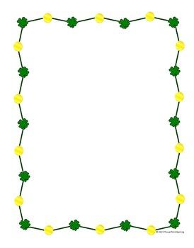 22 St Patricks Day Frames And Borders By Teacher Gameroom Tpt