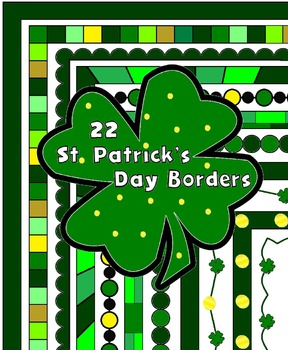 22 St. Patrick's Day Frames and Borders