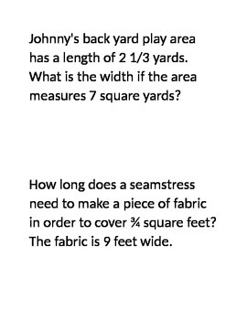 22 Word Problems with Fractions and Decimals