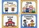 220 Classroom Library Book Bin / Basket Labels {Blue & Orange Polka Dots}