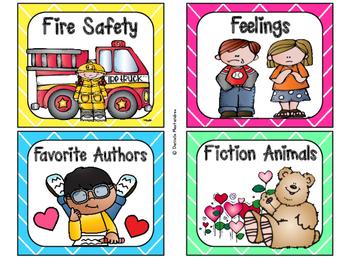 220 Classroom Library Book Bin / Basket Labels {Bright Colors} SET 2