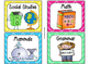 220 Classroom Library Book Bin / Basket Labels {Bright Colors Theme}
