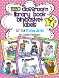 220 Classroom Library Book Bin / Basket Labels {Bright Polka Dots Theme}