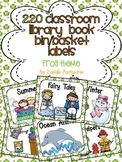220 Classroom Library Book Bin / Basket Labels {Frog theme}
