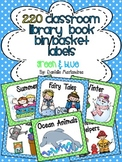 220 Classroom Library Book Bin / Basket Labels {Green & Light Blue}