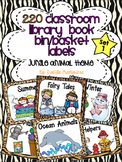 220 Classroom Library Book Bin / Basket Labels {Jungle Animal Theme}