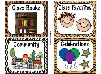 220 Classroom Library Book Bin / Basket Labels {Jungle Animal Theme} SET 2