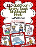 220 Classroom Library Book Bin / Basket Labels {Ladybug Theme}