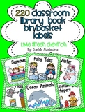 220 Classroom Library Book Bin / Basket Labels {Lime Green Chevron}