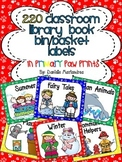 220 Classroom Library Book Bin / Basket Labels {Primary Paw Prints}