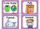 220 Classroom Library Book Bin / Basket Labels {Purple Chevrons}