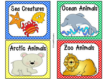 220 Classroom Library Book Bin / Basket Labels {Primary Polka Dots}