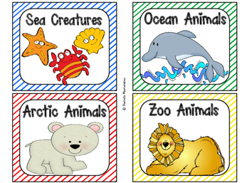 220 Classroom Library Book Bin / Basket Labels {Primary Stripes Theme}