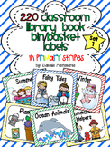220 Classroom Library Book Bin / Basket Labels {Primary St