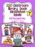 220 Classroom Library Book Bin / Basket Labels {Purple Chevrons} SET 2