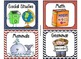 220 Classroom Library Book Bin / Basket Labels {Red & Blue Theme}