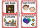 220 Classroom Library Book Bin / Basket Labels {Red Chevrons} SET 2