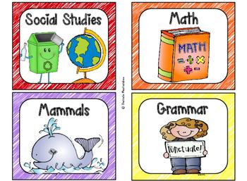 220 Classroom Library Book Bin / Basket Labels {Scribbles}