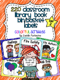 220 Classroom Library Book Bin / Basket Labels {Scribbles} SET 2