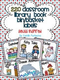 220 Classroom Library Book Bin / Basket Labels {Seuss Inspired}