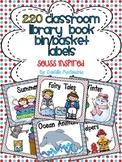 220 Classroom Library Book Bin / Basket Labels {Seuss Inspired}