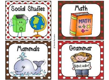 220 Classroom Library Book Bin / Basket Labels {Sock Monkey Colors}