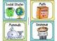 220 Classroom Library Book Bin / Basket Labels {Yellow Green Blue Stripes}