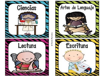 220 Classroom Library Book Bin / Basket Labels in SPANISH {Bright Jungle Colors}
