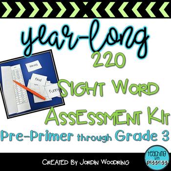 220 Common Sight Word Assessment Kit