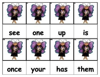 Dolch Words Flashcards - Bug Mama