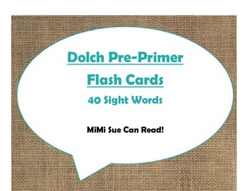 220 Dolch Sight Word Flash Cards Pre-Primer - 3rd Grade (Burlap and Turquoise)